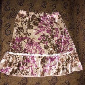 Girls, crushed velvet skirt, M, Xhilaration